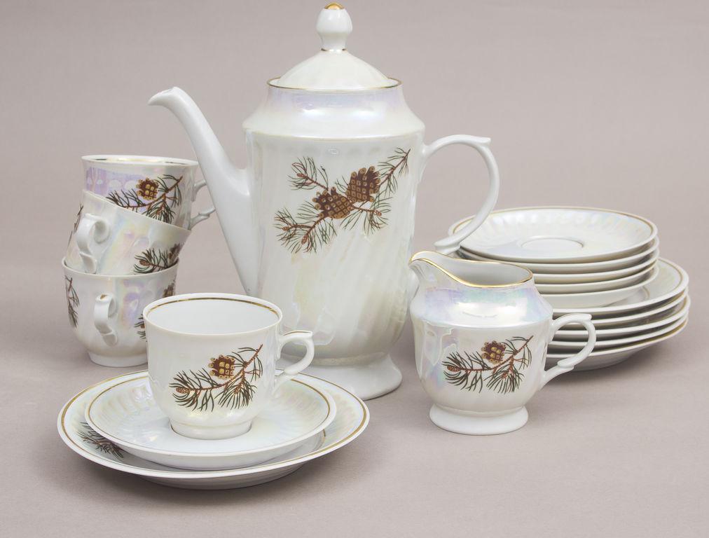 Porcelāna tējas servīze 6 personām(nepilna)
