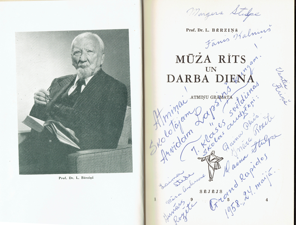 """Prof. Dr. L.Berzins """"Morning of Life and Working Day"""" (Memory Book)"""