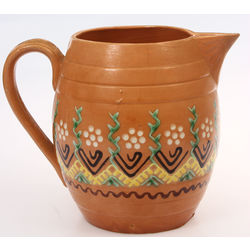 Ceramic jug with painting