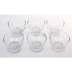 Glass ice cream dishes 6 pcs.