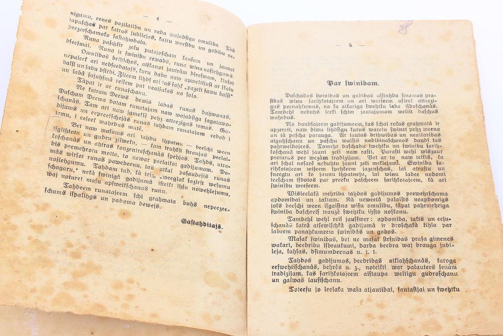 A.Melnalksnis, Svētku runas un galda runas