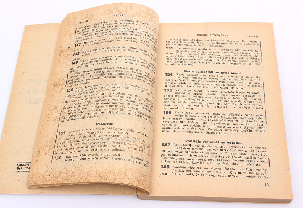 Latvias Skautu centrālās organizācijas Iekārtas un darbības noteikumi