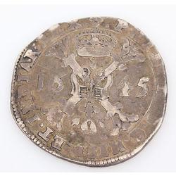 Silver coin 1645