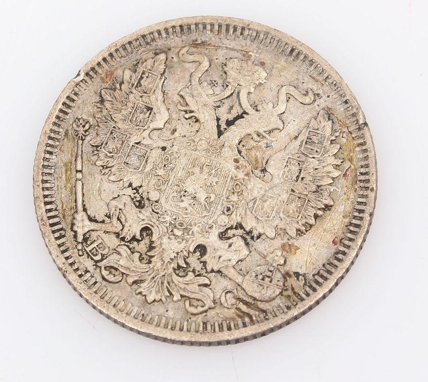 Sudraba 20 kapeiku monēta 1914