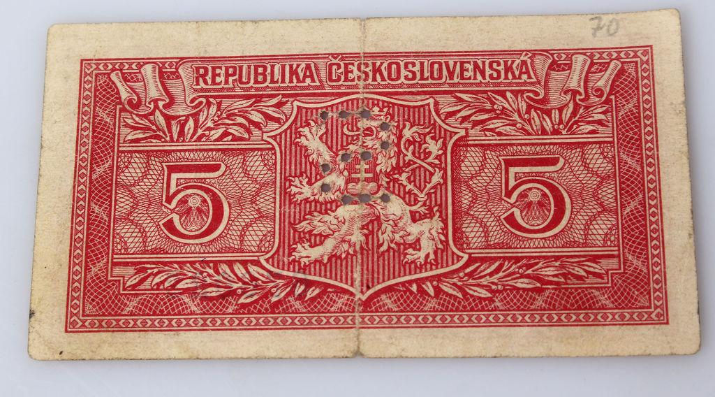 Piecas kronas banknote