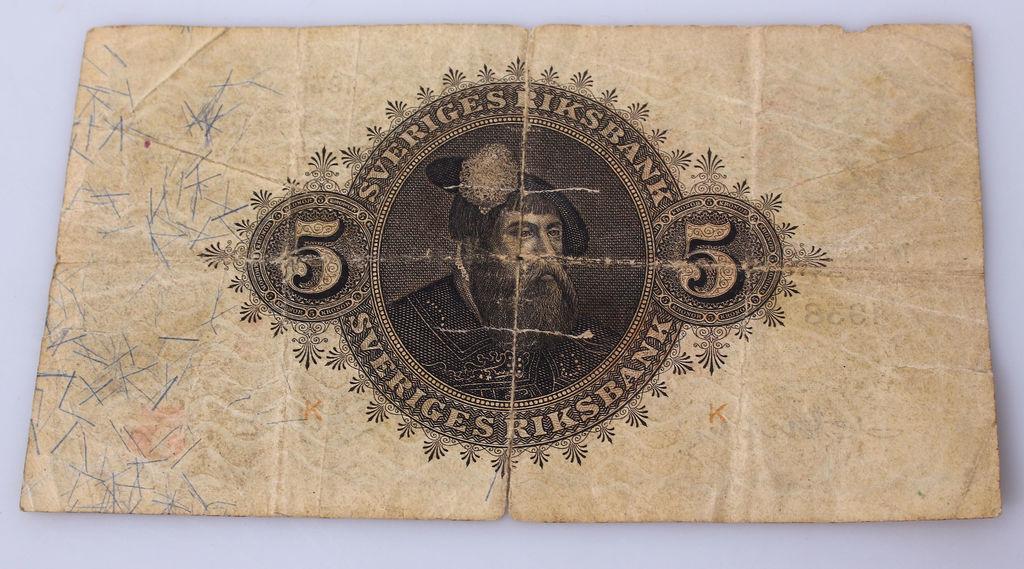 5 kronas banknote