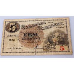 5 крон банкнота