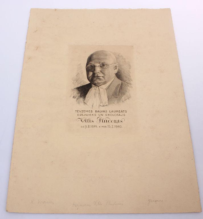 Tēvzemes balvas laureāts, dzejnieks un skolotājs Vilis Plūdonis