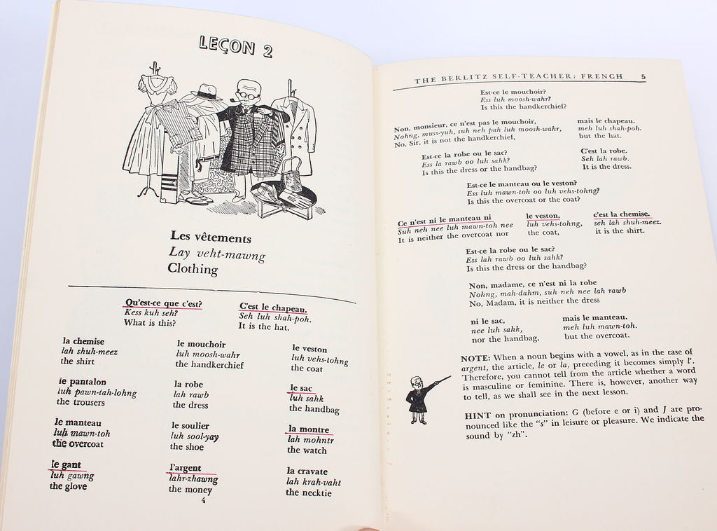 3 grāmatas - Berlitz self-teacher french, Berlitz basic french dictionary, Berlitz fench for travelers
