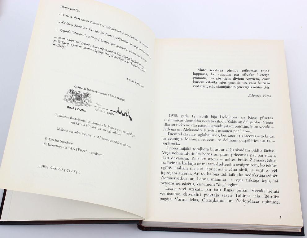 Savu lomu advokāts(grāmata par Leonu Krivānu), ar aktiera autogrāfu