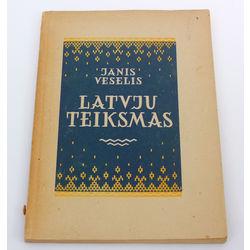 Jānis Veselis, Latvju teiksmas(ar autora autogrāfu)