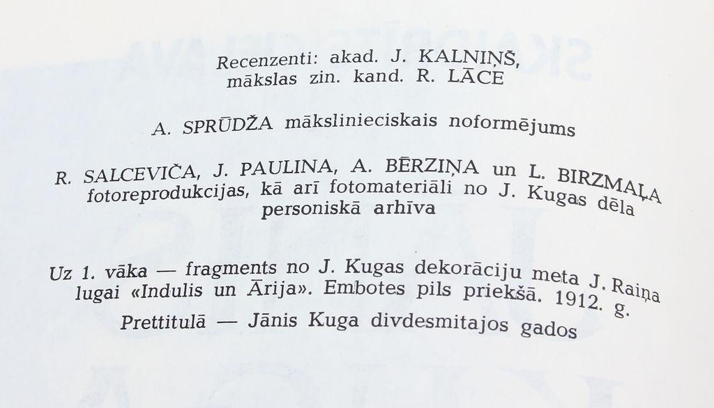 Skaidrīte Cielava, Jānis Kuga
