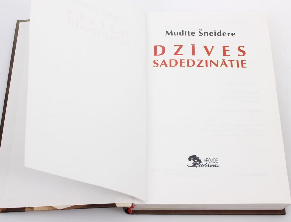 Mudīte Šneidere, Dzīves sadedzinātie(ar autora autogrāfu)