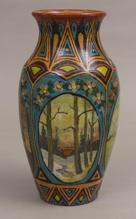 Keramikas vāze ar gleznojumu