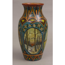 Ceramic vase with a painting