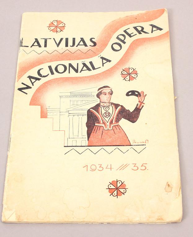 Latvijas Nacionālā Opera, Nr.28, 1934./35.