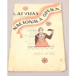 Latvian National Opera, No.28, 1934/35.