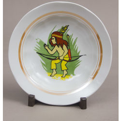 Painted porcelain plate 'Indian'