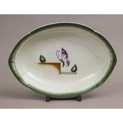 Art-deco serving dish
