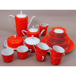 Porcelain tea / coffee set for 6 people
