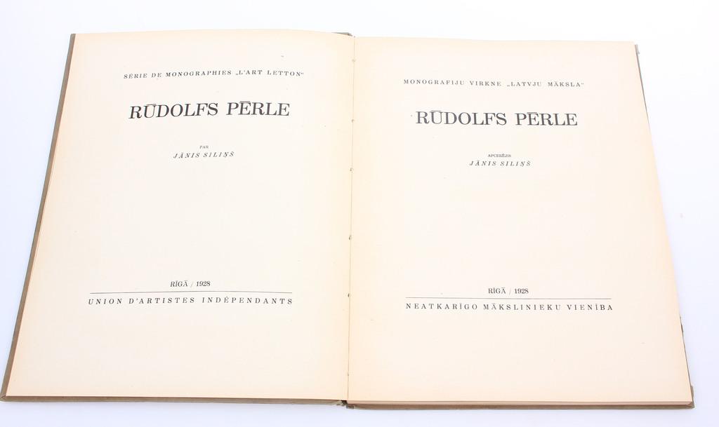 "Monogrāfiju virkne ""Latvju Māksla- Rūdolfs Pērle"""