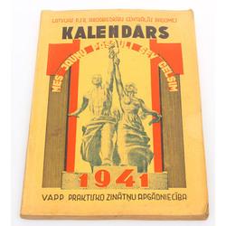 Latvijas PSR Arodbiedrību Centrālās Padomes kalendārs 1941