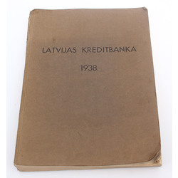Latvian Credit Bank's 1938 Annual Report