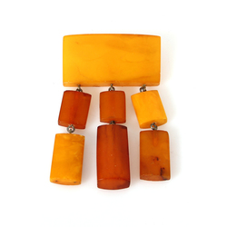 100% Natural Baltic amber brooch