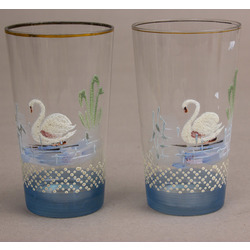 Glass glasses 2 pcs.