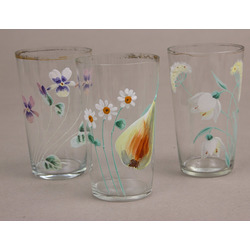 Glass glasses 3 pcs.