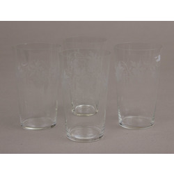 Glass glasses 4 pcs.