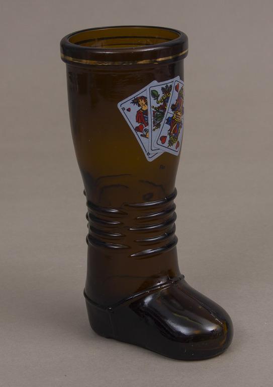 Stikla vāze zābaka formā