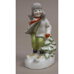 Porcelain figurine '' Skier ''