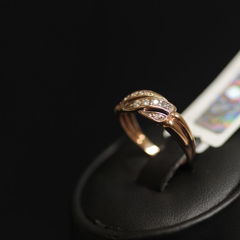 Zelta gredzens ar 10 briljantiem
