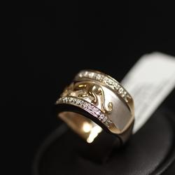 Zelta gredzens ar 18 briljantiem