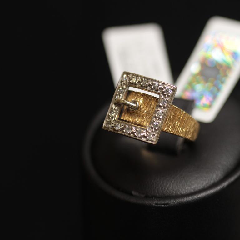 Zelta gredzens ar 16 briljantiem