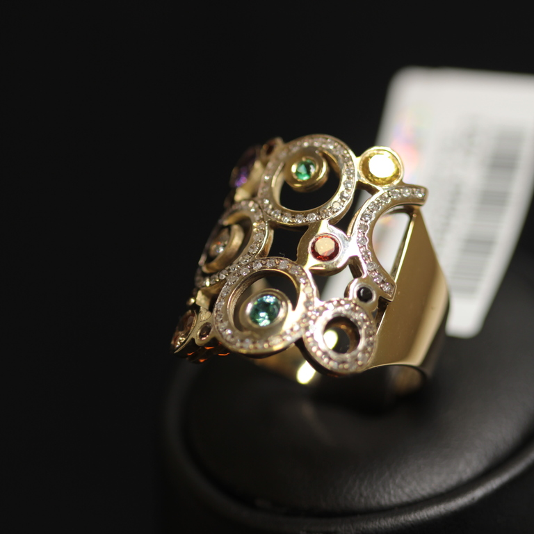 Zelta gredzens ar 86 briljantiem