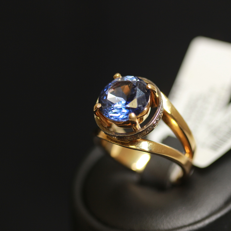 Zelta gredzens ar 12 briljantiem