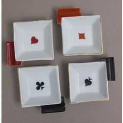 Porcelain ashtrays 4 pcs