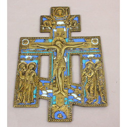 Bronzas ikona/krusts ar emaljām