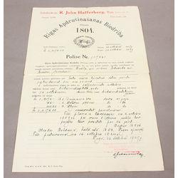 Apdrošināšanas polise 1927