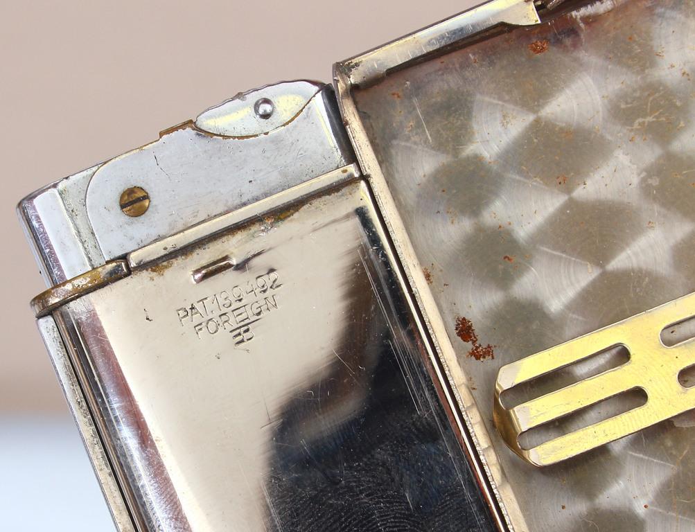 Metāla etvija ar iestrādātām šķiltavām, ar patenta numuru