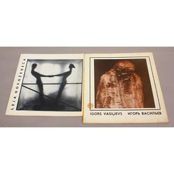 2 izstādes katalogi - Leja Novožeņeca, Igors Vasiļjevs