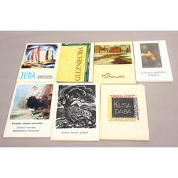 7 atklātņu albumi ar mākslas darbu reprodukcijām