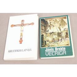 2 atklātņu albumi - Jānis Brekte(Vecrīga), Krucifikss Latvijā