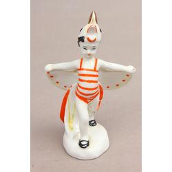 Porcelāna figūriņa ''Puisītis gaiļa kostīmā