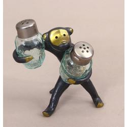 Metāla pērtiķītis- garšvielu trauciņu komplekts ar turētāju