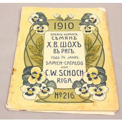 Samen-Catalog von C.W.Schoch Riga