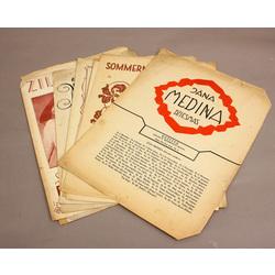 Dažādi katalogu vāki (9 gab.) dažiem ir J.Madernieka vāki