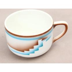 Art-deko stila porcelāna tasīte